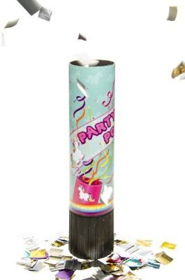Party Popper Einhorn, Konfettiwerfer Party Popper, Partypopper, Konfettishooter, Konfettikanone, Party, Event, Silvester, Karneval, Fasching, usw