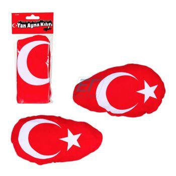 Spiegelfahne 2er Set Türkei-Flagge