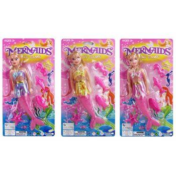 27-43047, Puppe Meerjungfrau mit Zubehör, Meerestiere Modepuppe, Spielpuppe