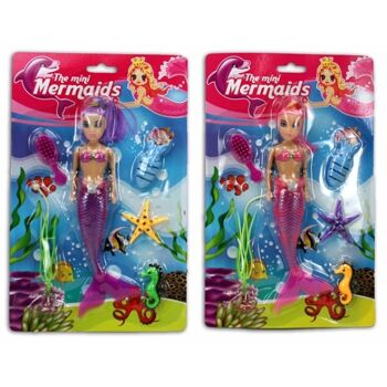 27-43146, Puppe Meerjungfrau mit Seetieren, Modepuppe, Spielpuppe