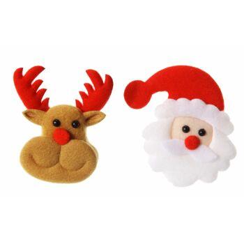 17-91343, Weihnachts LED Brosche, mit LED Licht, Rentier, Weihnachtsmann, Nikolaus, Party, Event, Weihnachtsfeier, usw