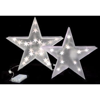 17-28676, LED Stern 35 cm, Weihnachtsdeko LED Licht