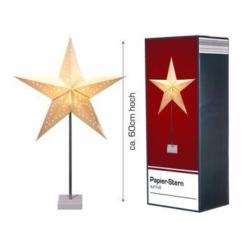 17-29530, Tischleuchte Stern, 60cm, Weihnachtsdeko, Tischlampe