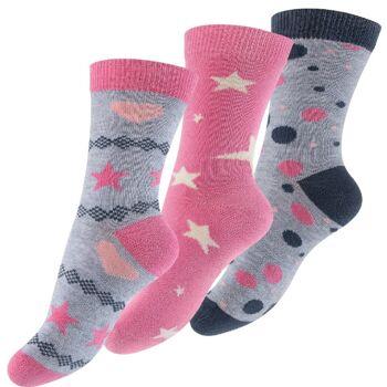 Kinder Baumwollsocken mit Sternen, Herzen und Punkten