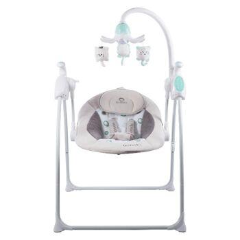 Lionelo Robin braun beige App-gesteuerte Babyschaukel Schaukel Wippe Babywippe mit Moskitonetz 0-9kg Babywiege Baby Wiege Kinderschaukel