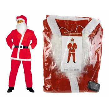 12-11816, komplettes Weihnachtsmann-Kostüm 5-teilig, Nikolaus, Weihnachtsmannkostüm