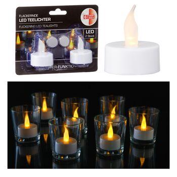 17-72077, LED Teelicht mit Timer, 2er Set, 6Std Timer