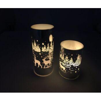 17-72703, LED Echtwachs Kerze in Glas