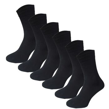 12 Paar Classic Socken Strümpfe aus Baumwolle in schwarz Größe 39-42 Herrensocken Damensocken Socke Strümpfe Strumpf