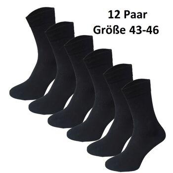 Garcia Pescara 12 Paar Classic Socken Strümpfe aus Baumwolle in schwarz Größe 43-46 Herrensocken Damensocken Socke Strümpfe Strumpf