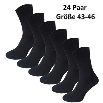 Garcia Pescara 24 Paar Classic Socken Strümpfe aus Baumwolle in schwarz Größe 43-46 Herrensocken Damensocken Socke Strümpfe Strumpf