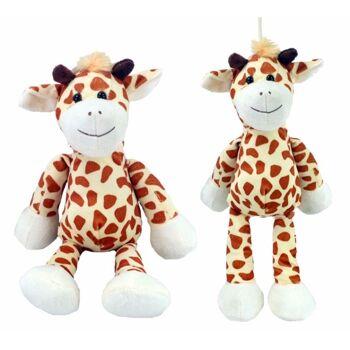27-25625, Plüsch Giraffe mit Schlenkerbeinen 38 cm, Zootier, Wildtier, Kuscheltier