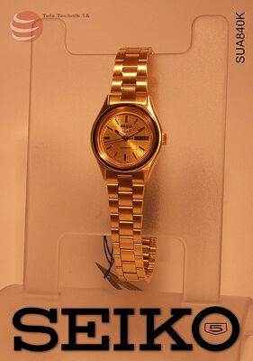 ORIGINAL SEIKO  5 Automatic - VINTAGE GOLD LADIES --NEUWARE--