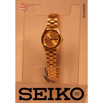 ORIGINAL SEIKO  5 Automatic - VINTAGE GOLD LADIES --NEUWARE--