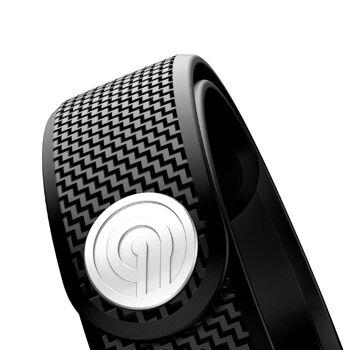 NINETEC Smartfit F3HR Fitnesstracker mit Herzfrequenzmessung für iOS und Android Sportuhr Pulsuhr