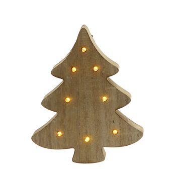 17-72543, LED Holz Baum 18 cm, mit 8 LED, Weihnachtsbaum, Tannenbaum