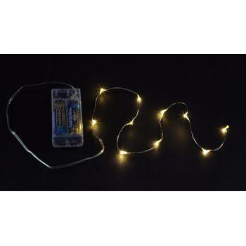 17-72664, LED Kupferdraht mit Timer, 10 LEDs, 120cm, Lichterkette