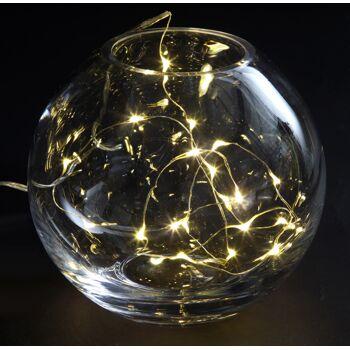 17-72667, LED Kupferdraht mit Timer, 100 LEDS, Lichterkette