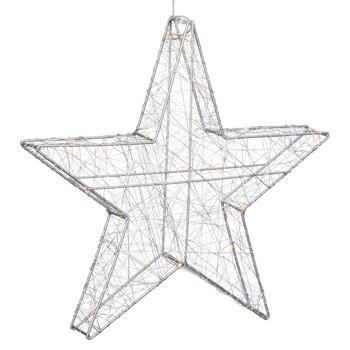 17-72673, LED Stern 40 cm, mit 60 LEDs, OUTDOOR und INDOOR