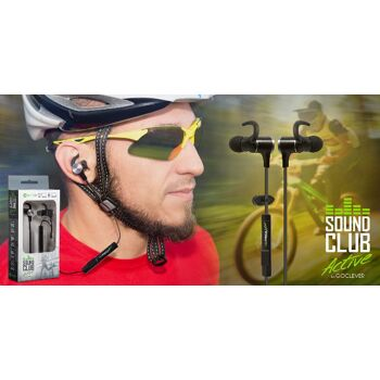 GoClever Sound Club Active Sport Bluetooth Kopfhörer Ohrhörer IPX4 mit Magnet