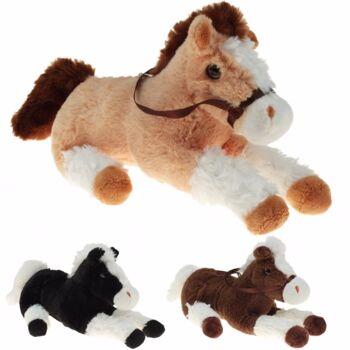 10-185330, Plüsch Pferd 60 cm, Plüschpferd, Kuscheltier, Spieltier