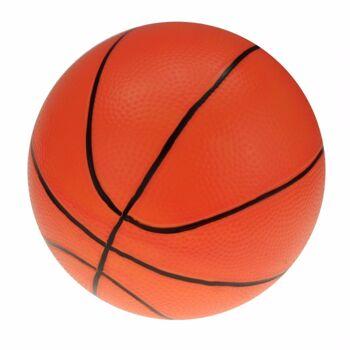 10-546590, Aufblasbarer Basketball 25 cm, Beachball, Wasserball, Fussball, Spielball, Aufblasball