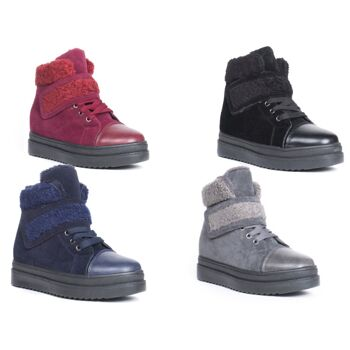 Damen Woman Stiefel Outdoor Allwetter Boots Schnür Schuhe nur 14,90 Euro