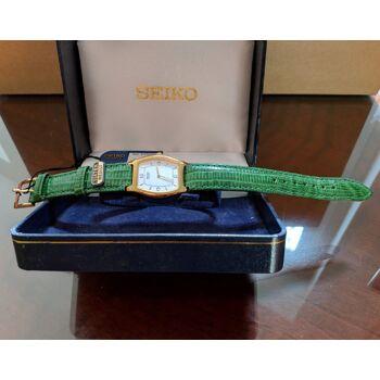 SEIKO Quarz Damenuhr - 100% original SEIKO Stock - Kalbslederband - Quarz Movt. Seiko JAPAN