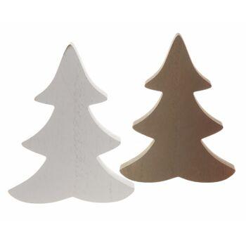 17-71692, Holz Deko Tanne 12 cm, Weihnachtsbaum, Tannenbaum
