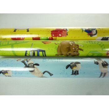 12-2528116798, STEWO Geschenkpapier Shaun das Schaf, 200 x 70 cm, extra Reissfest, höchste Qualität, auch Weihnachtsgeschenkpapier, usw