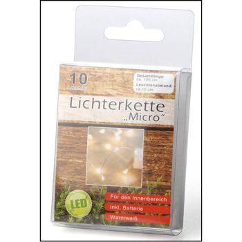 12-75376, LED Lichterkette micro 10 LED, 100 cm LED Licht