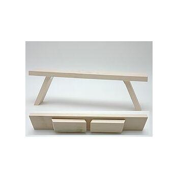 12-1241, Holz Schwibbbogenuntersetzer 40 cm klappbar, Schwippbogenhalter, ideal für das Fenster, so kommt der Schwippbogen höher