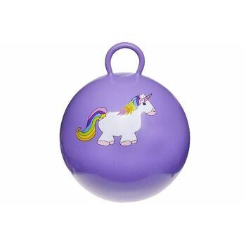 21-4744, Kinderhüpfball 46 cm, Einhorn, Kinder Hüpfball, Springball, HÜPFBALL, macht nicht nur Spass, trainiert auch gleichzeitig
