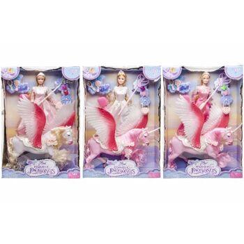 21-4408, Puppen Spielset 44 x 29 cm, Puppe und Pferd mit Flügeln