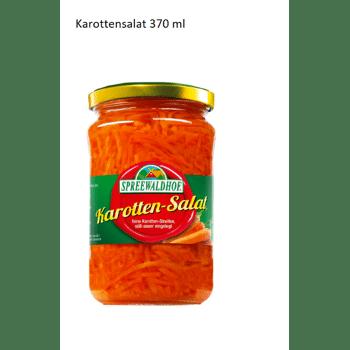 Karotten Salat/ Carrot salad 370 ml MHD/ BBD 25.10.17