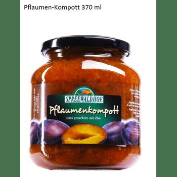Pflaumenkompott mit Zimt 370ml/ Plum compote with cinnamon 370 ml