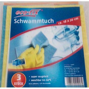 12-12482, Schwammtücher 3er Pack, Schwammtuch, Putztuch, Reinigungstuch
