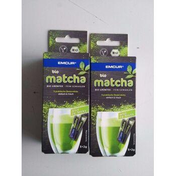 Emcur Bio Matcha Tea Bio Grüntee fein gemahlen Berlin 10.000 Packung NEU stiftung warentest gut
