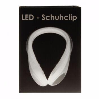 10-984860, LED Licht als Schuhclip, für Schuhe, wetterfest, einfache Anbringung durch Klicksystem, 2-Way Function Switch,