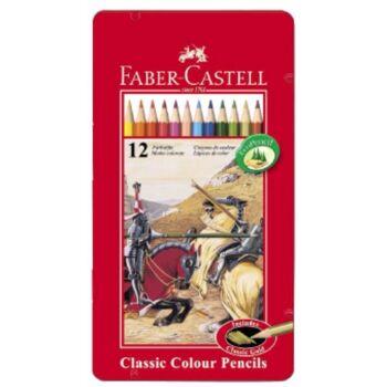 12-115844, Faber Castell Buntstifte Castle hexagonal 12er Pack in Metalldose, Malstifte