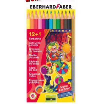 12-511414, Faber Farbstift dreiflächig 13er Pack, mit Gold und Silberstift und Anspitzer, Buntstifte, Malstifte