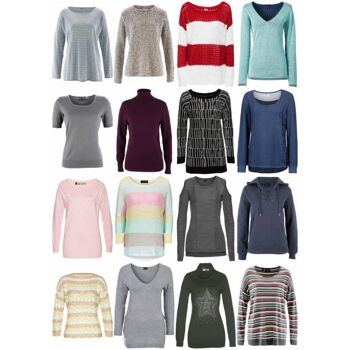 Damen Herbst Winter Bekleidung Mix - Strick Pullover Sweater Langarm Shirts etc