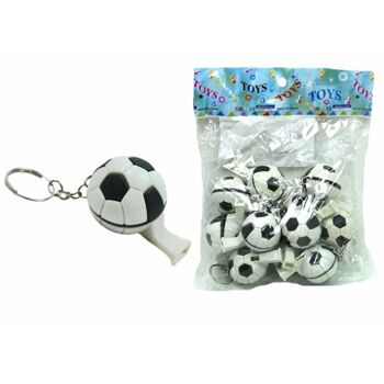 Fußball Pfeife an Schlüsselanhänger, Schlüsselkette, Trillerpfeife+++++++