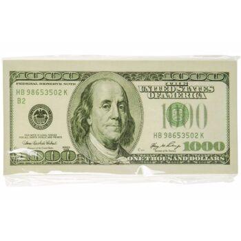 21-0358, Notizbuch im Dollar Design, Notizblock, Schreibblock