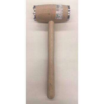 12-390005, KESPER Holz Fleischhammer mit Metallbeschlag, Fleischklopfer, Küchenhelfer, Kochen, Backen, Braten