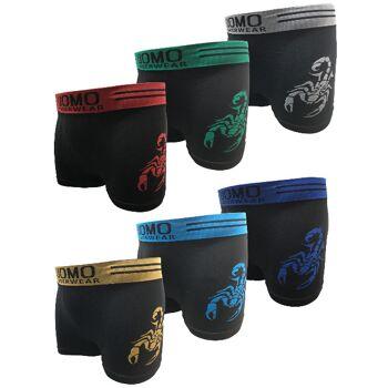 Garcia Pescara Uomo5 Herren Boxershorts Größe M/L 6er Pack Skorpion Boxers Shorts Unterwäsche Unterhosen Unterhose Wäsche Kleidung Mann Männer Jungs Jungen Junge