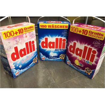 Dalli - Wohlfühl, Activ, Color - Colorwaschmittel, Vollwaschmittel 7,15 kg / 110 Wäschen / Made in Germany - 1A Ware! Euro-1 Ware!