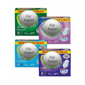 Waschmittel Tabs - drogerie tabs - detergent tabs - Made in Germany - 1A Ware! Euro-1 Ware!