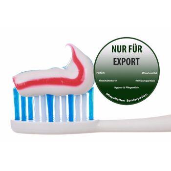 Zahnpflege - zahnbürste - zahnpasta - toothcreme    / NUR Export - deutscher Hersteller - Made in Germany - 1A Ware/  B Ware ! Euro-1 Ware!