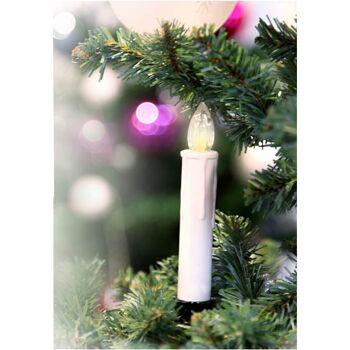 28-515123, Kerzen Lichterkette Kerzen 10er LED, 180 cm, mit gelb flackerndem LED Licht